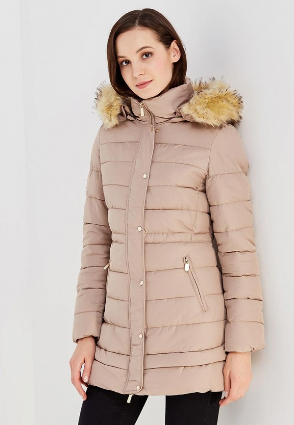 Купить Куртка утепленная B.Style, BS002EWXWM38, бежевый, Осень-зима 2017/2018