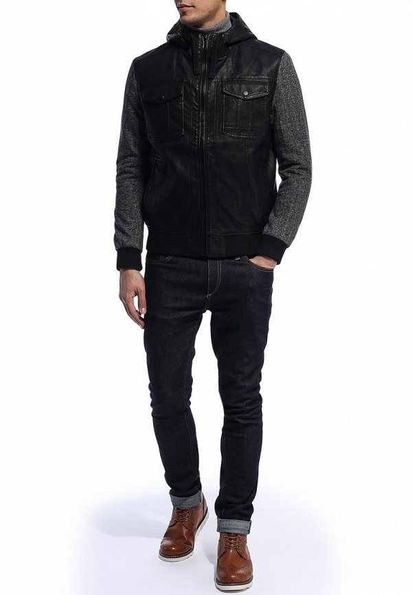 Кожаная куртка Burton Menswear London 06B04DBLK: изображение 2