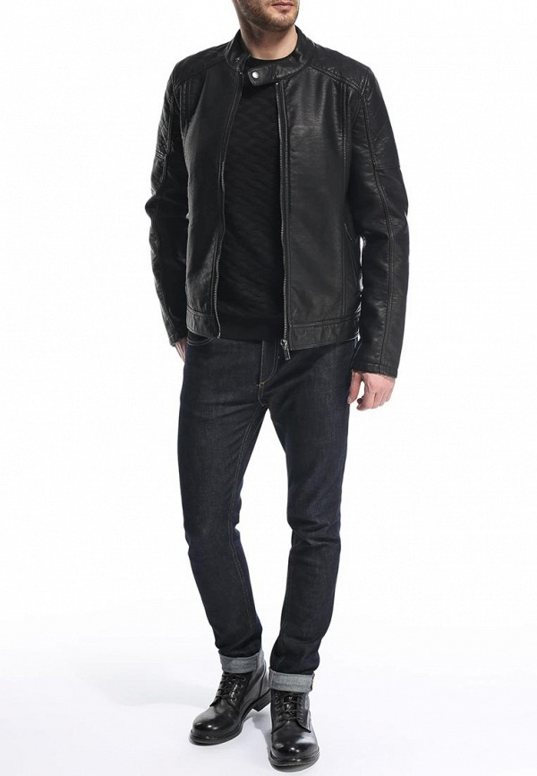 Кожаная куртка Burton Menswear London 06L03GBLK: изображение 4