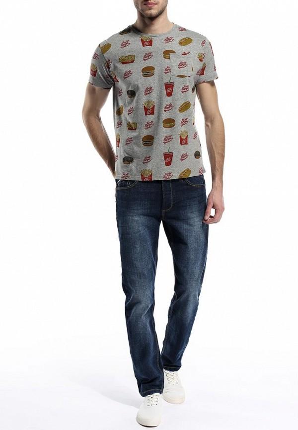 Мужские прямые джинсы Burton Menswear London 12P01FBLU: изображение 3