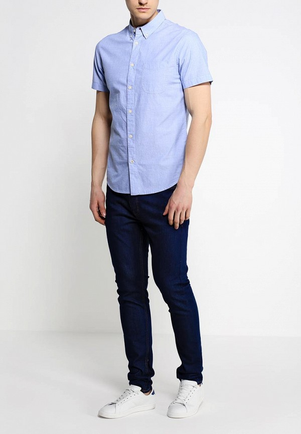 Рубашка с коротким рукавом Burton Menswear London 22C07GBLU: изображение 3