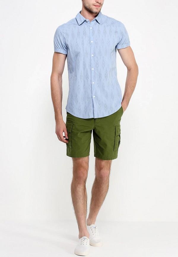 Рубашка с коротким рукавом Burton Menswear London 22C08GBLU: изображение 3
