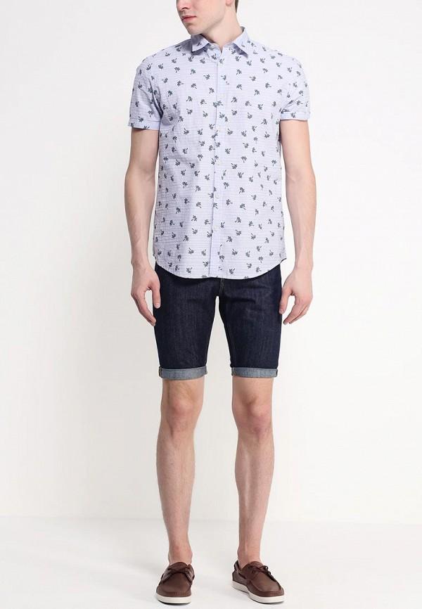 Рубашка с коротким рукавом Burton Menswear London 22P38GBLU: изображение 3