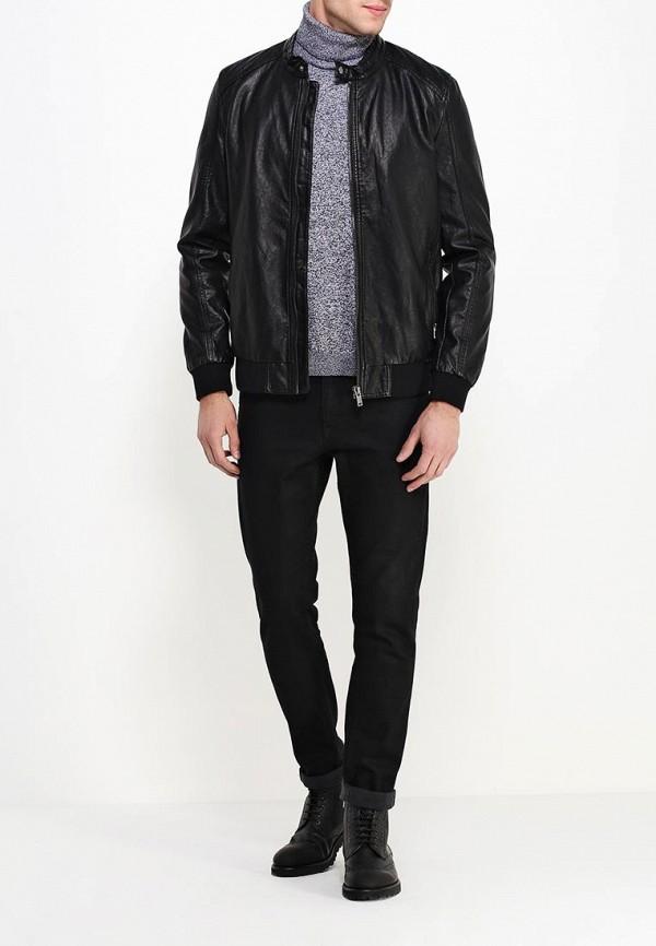 Кожаная куртка Burton Menswear London 06L05HBLK: изображение 3