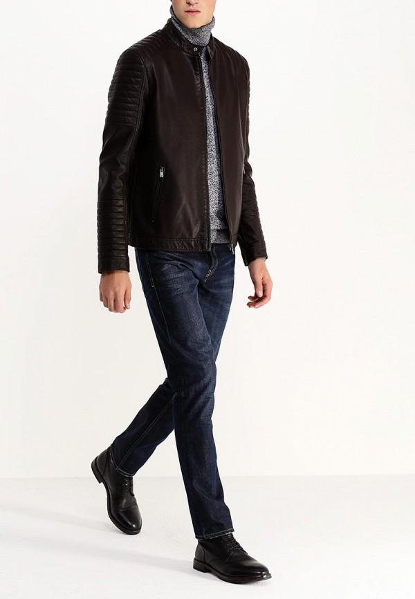 Кожаная куртка Burton Menswear London 06L08GBRN: изображение 4