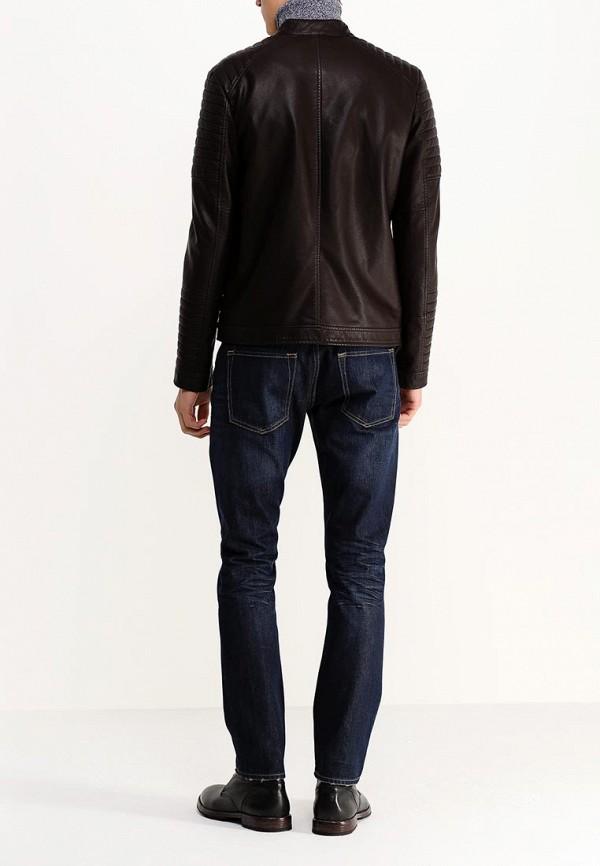Кожаная куртка Burton Menswear London 06L08GBRN: изображение 5