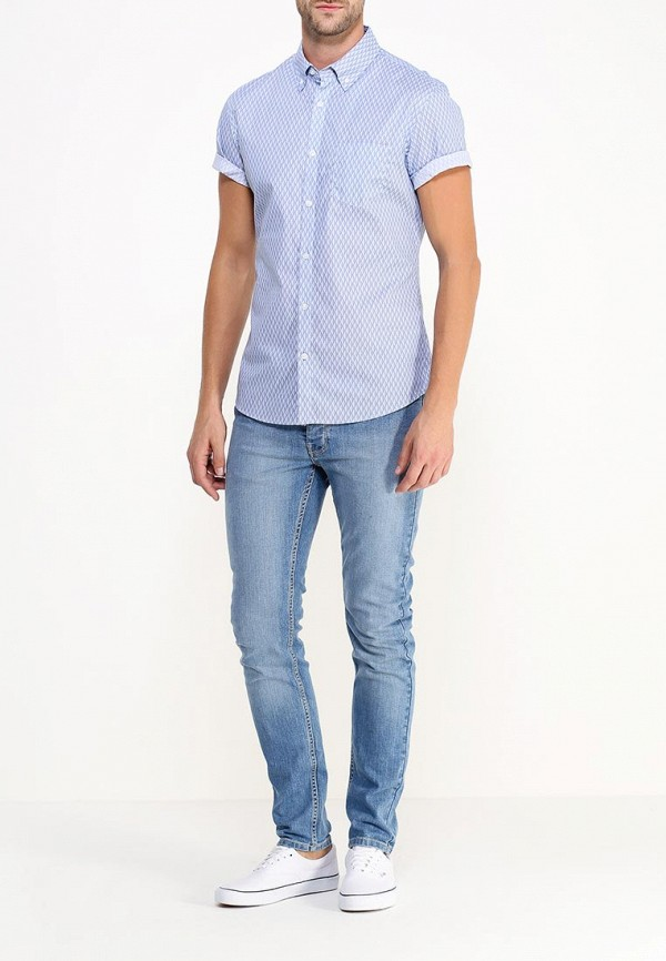 Рубашка с коротким рукавом Burton Menswear London 22P02HBLU: изображение 2