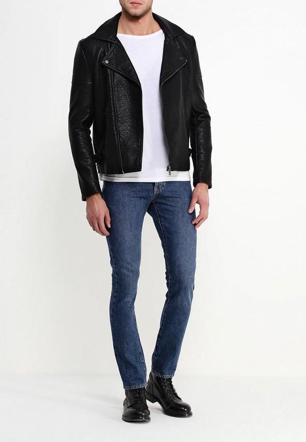 Кожаная куртка Burton Menswear London 06L08HBLK: изображение 2