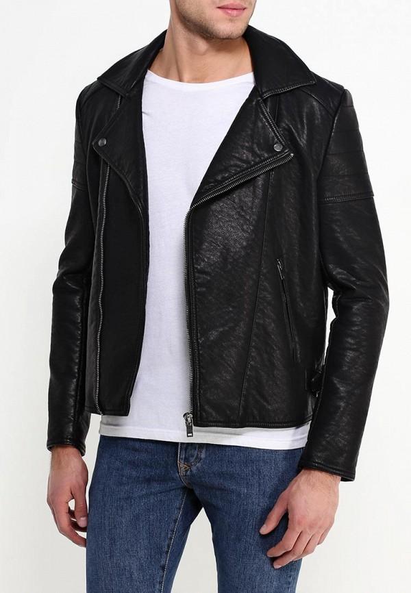 Кожаная куртка Burton Menswear London 06L08HBLK: изображение 3
