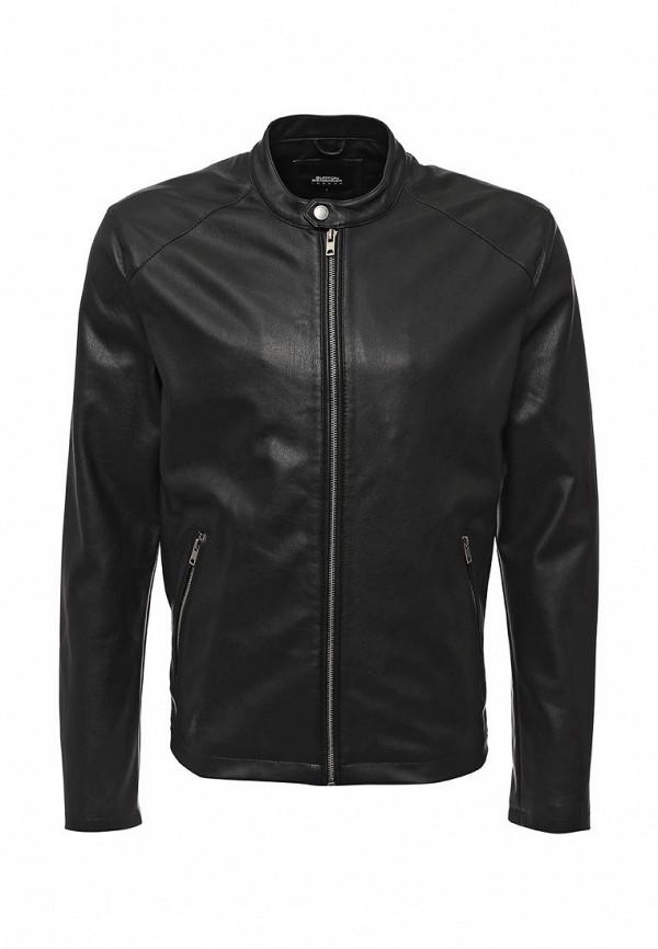 Кожаная куртка Burton Menswear London 06L07IBLK