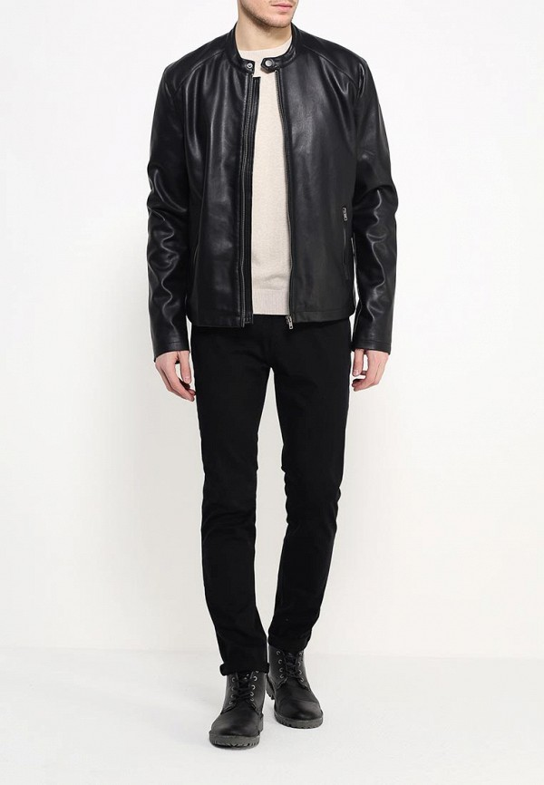 Кожаная куртка Burton Menswear London 06L07IBLK: изображение 2