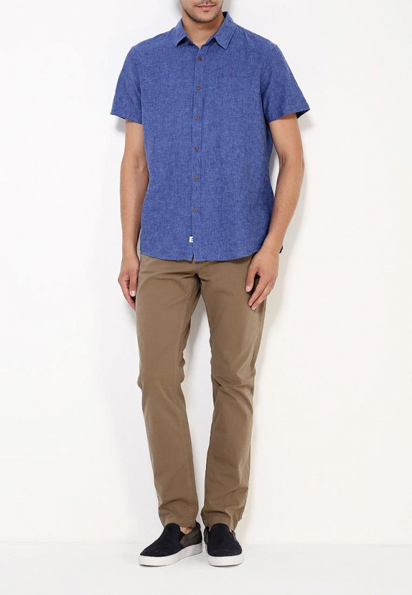 Рубашка с коротким рукавом Burton Menswear London 22P11IBLU: изображение 3