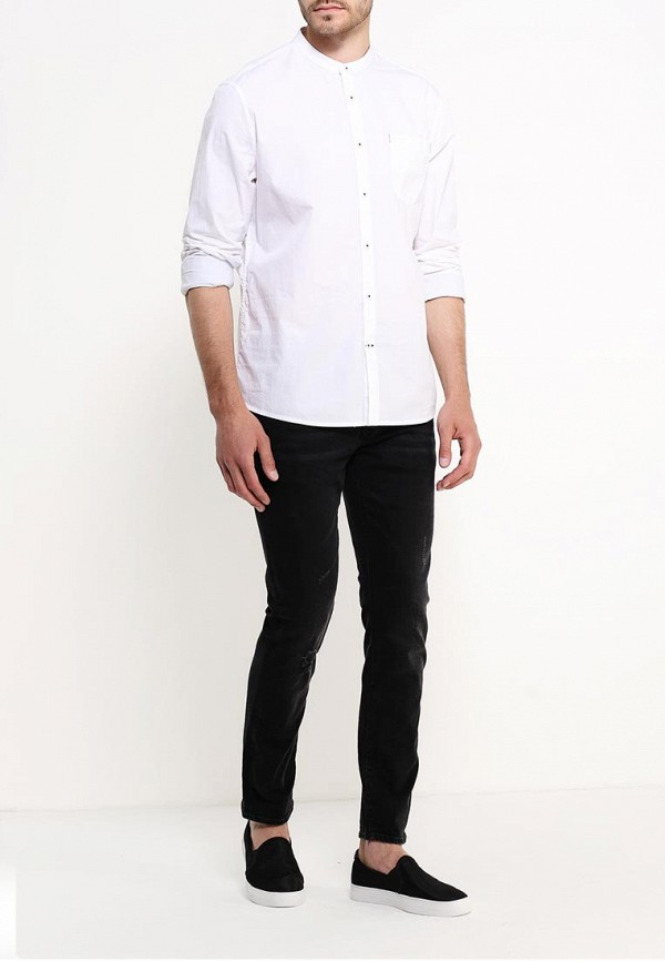 Рубашка с длинным рукавом Burton Menswear London 22L01JWHT: изображение 3
