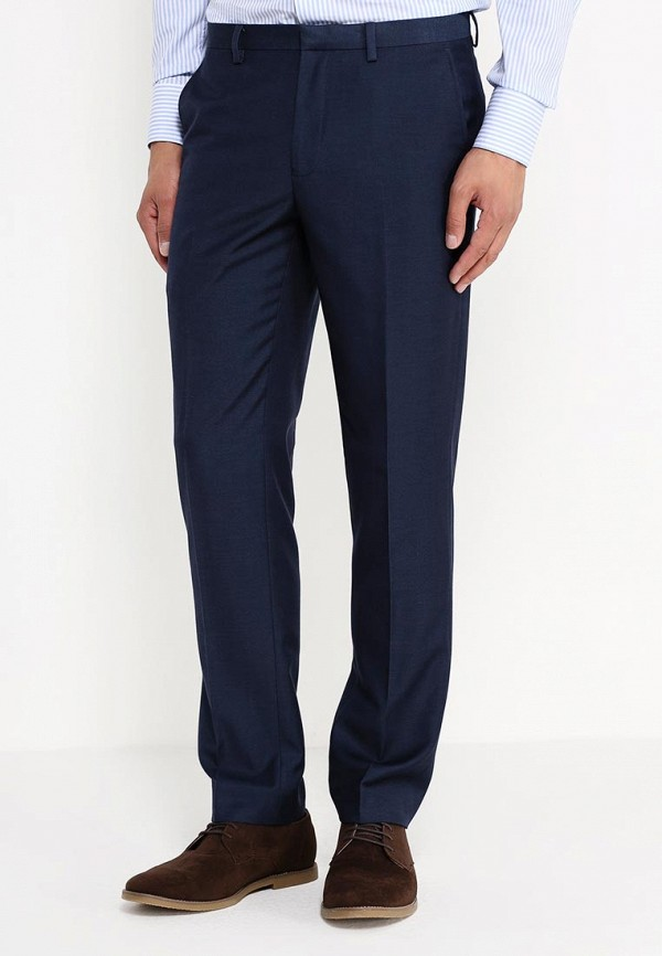 Мужские классические брюки Burton Menswear London 02S11HBLU: изображение 3