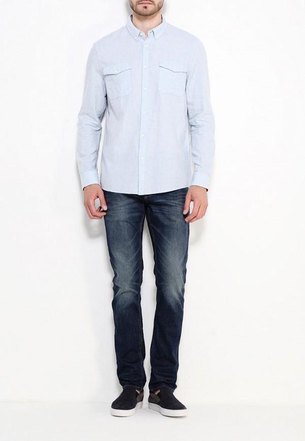 Рубашка с длинным рукавом Burton Menswear London 22L01JBLU: изображение 2