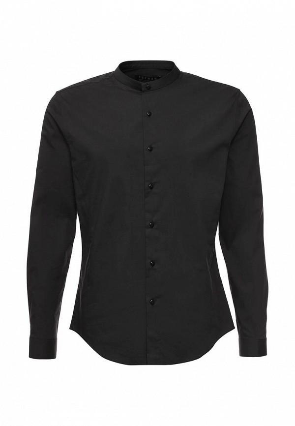 Рубашка с длинным рукавом Topman 84H25MBLK