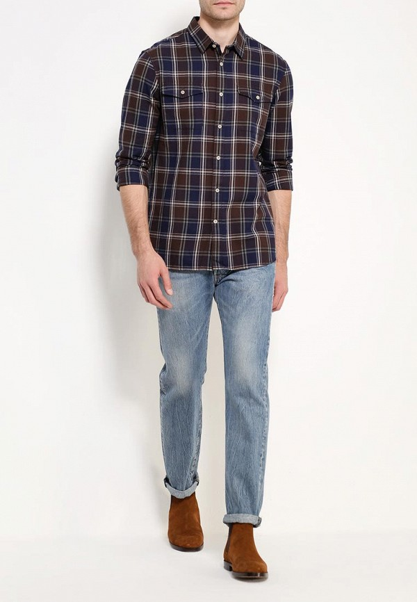 Рубашка с длинным рукавом Burton Menswear London 22C06JBLU: изображение 2