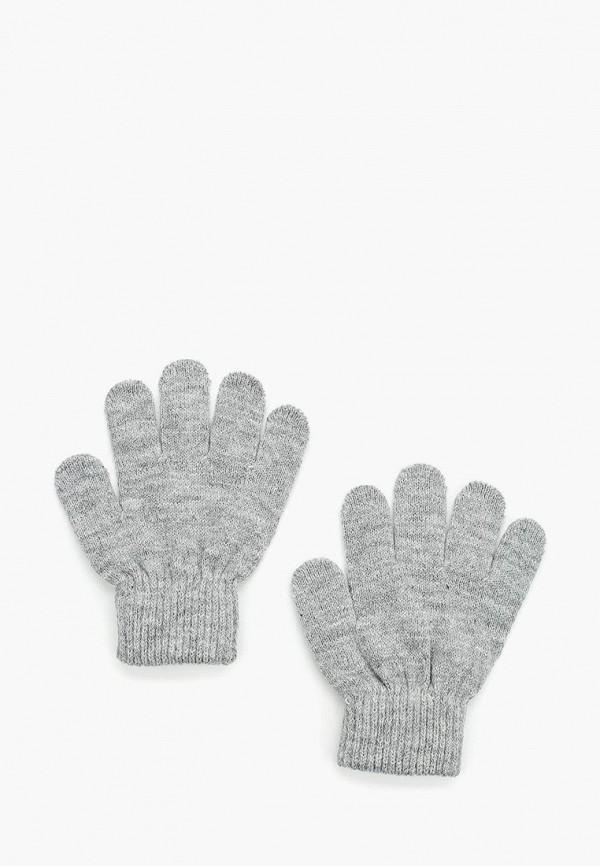 Купить Перчатки Button Blue, BU019DKWUE68, серый, Осень-зима 2017/2018