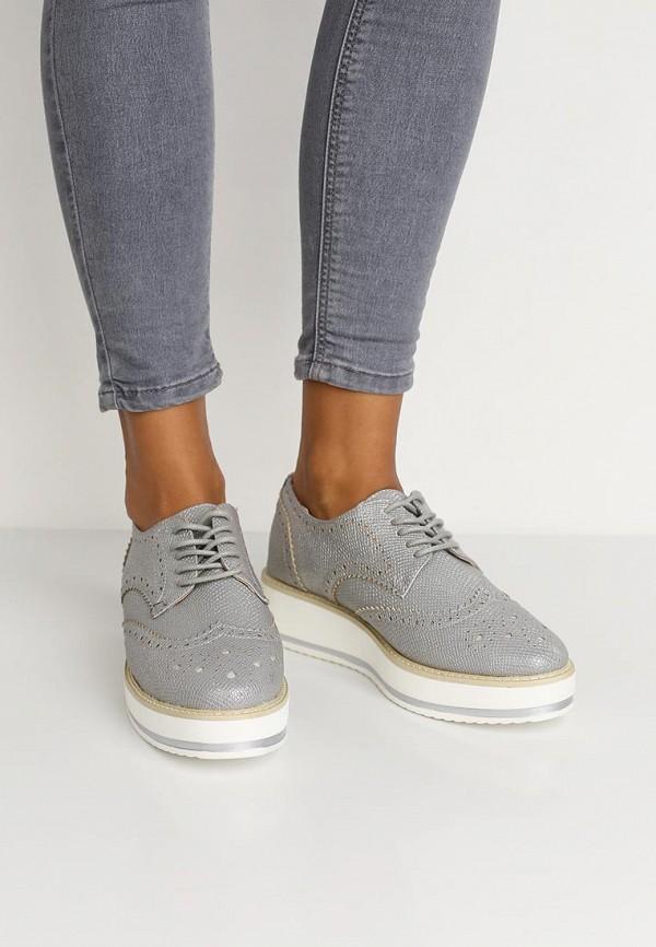 Фото 5 - женские ботинки и полуботинки Catisa серебрянного цвета
