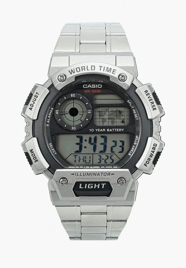 Купить Часы Casio, CASIO Collection AE-1400WHD-1A, CA077DMBIJW8, серебряный, Весна-лето 2018