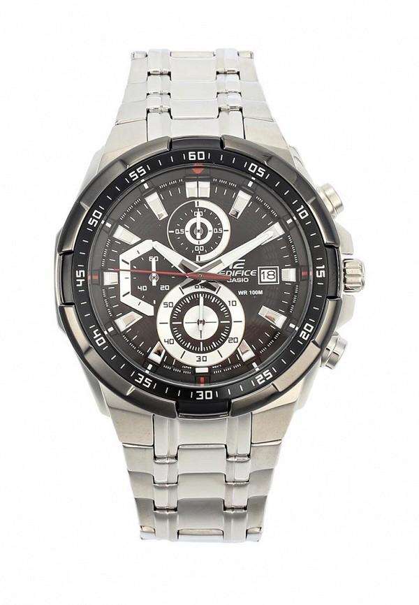 Часы Casio, EDIFICE EFR-539D-1A, CA077DMGXX63, серебряный, Весна-лето 2018  - купить со скидкой