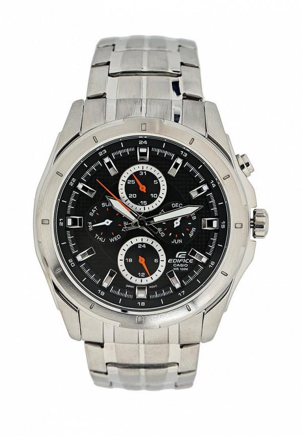 Часы Casio, EDIFICE EF-328D-1A, CA077DMHSV03, серебряный, Весна-лето 2018  - купить со скидкой