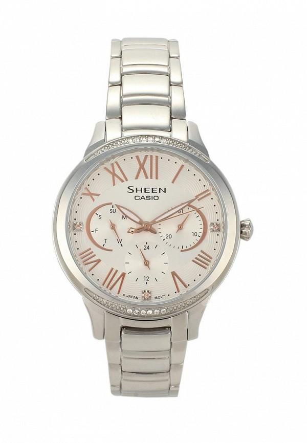 Купить Часы Casio, CASIO SHEEN SHE-3058D-7A, CA077DWAVCQ1, серебряный, Весна-лето 2018