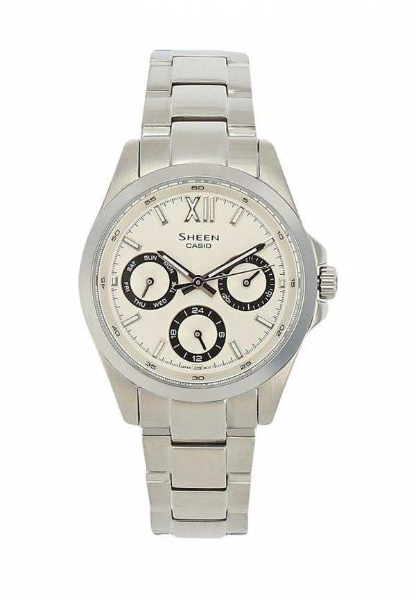 Купить Часы Casio, CASIO SHEEN SHE-3512D-7A, CA077DWAVCQ5, серебряный, Весна-лето 2018