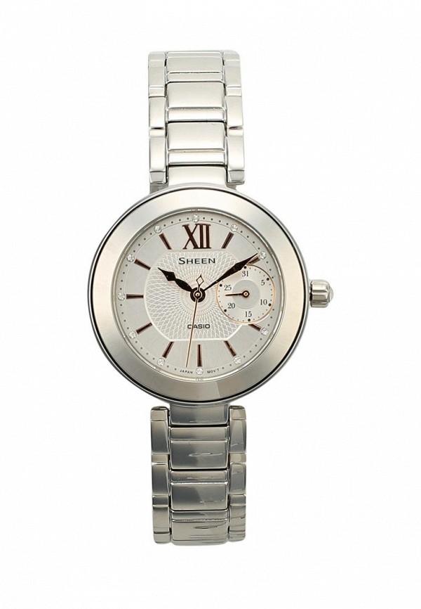 Купить Часы Casio, CASIO SHEEN SHE-3050D-7A, CA077DWXEM51, серебряный, Весна-лето 2018