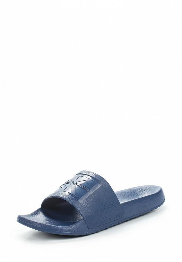 Купить Сланцы Calvin Klein Jeans, CHRISTIE, CA939AWAPQA4, синий, Весна-лето 2018