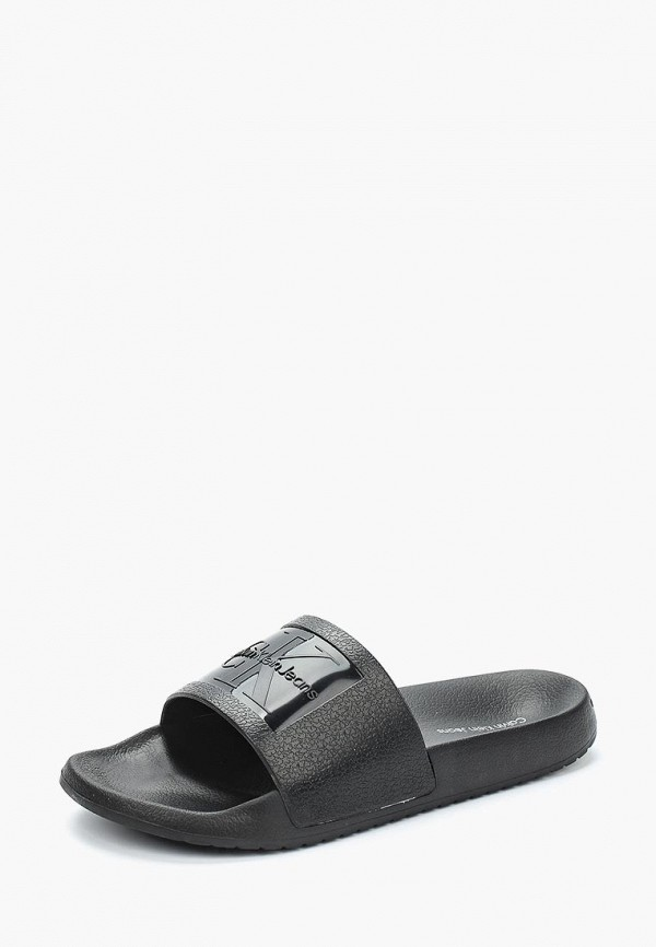 Сланцы Calvin Klein Jeans, CHRISTIE, CA939AWAPQA5, черный, Весна-лето 2018  - купить со скидкой