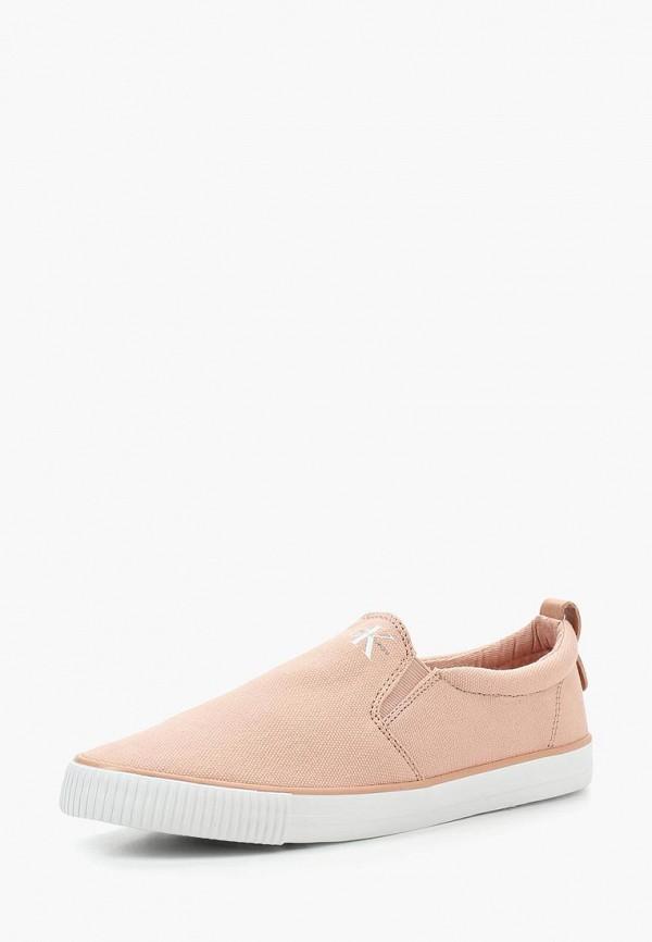 Купить Слипоны Calvin Klein Jeans, CA939AWSJU40, розовый, Весна-лето 2018