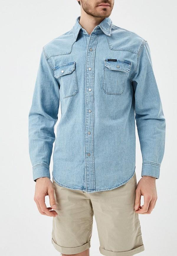 Рубашка джинсовая Calvin Klein Jeans, CA939EMAPQV7, голубой, Весна-лето 2018  - купить со скидкой