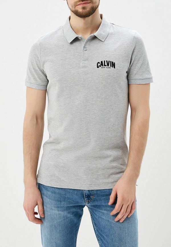 Купить Поло Calvin Klein Jeans, CA939EMAPQW5, серый, Весна-лето 2018