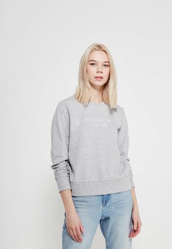 Купить Свитшот Calvin Klein Jeans, CA939EWAQIG6, серый, Весна-лето 2018