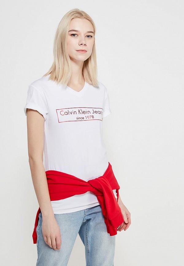 Футболка Calvin Klein Jeans Calvin Klein Jeans CA939EWAQIH7 calvin klein jeans j30j3 01230 4760