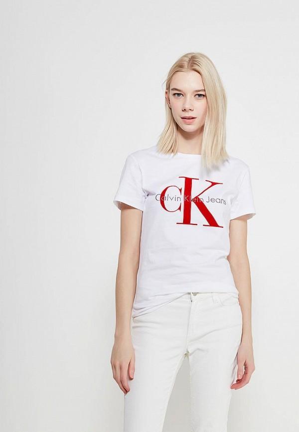 Футболка Calvin Klein Jeans Calvin Klein Jeans CA939EWAQIH9 calvin klein jeans j30j3 01230 4760