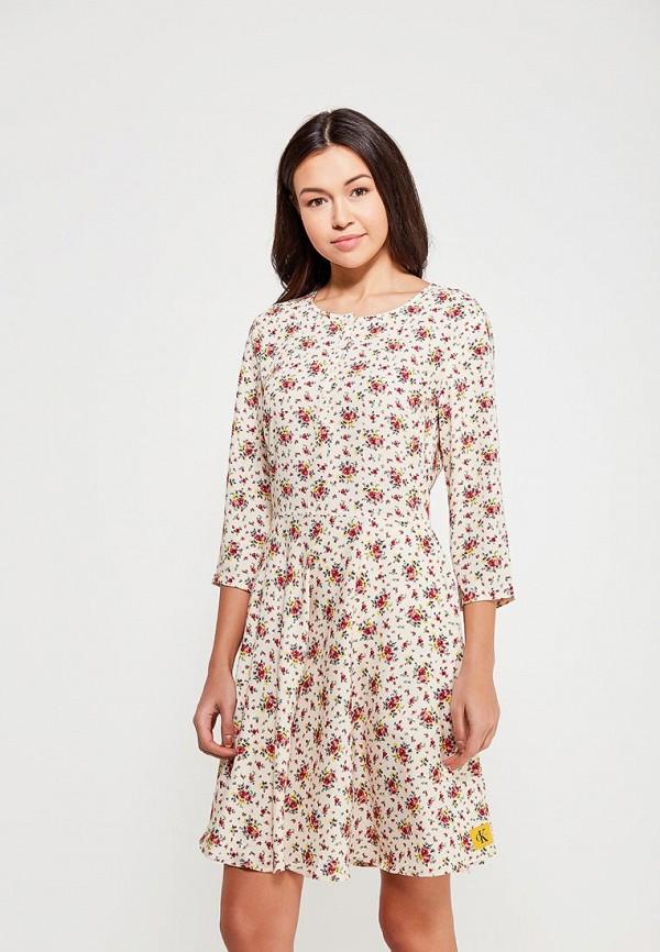 Купить Платье Calvin Klein Jeans, CA939EWAQIK1, желтый, Весна-лето 2018
