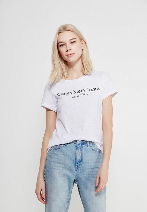 Футболка Calvin Klein Jeans Calvin Klein Jeans CA939EWAQIK4 футболка calvin klein jeans calvin klein jeans ca939ewzjs45