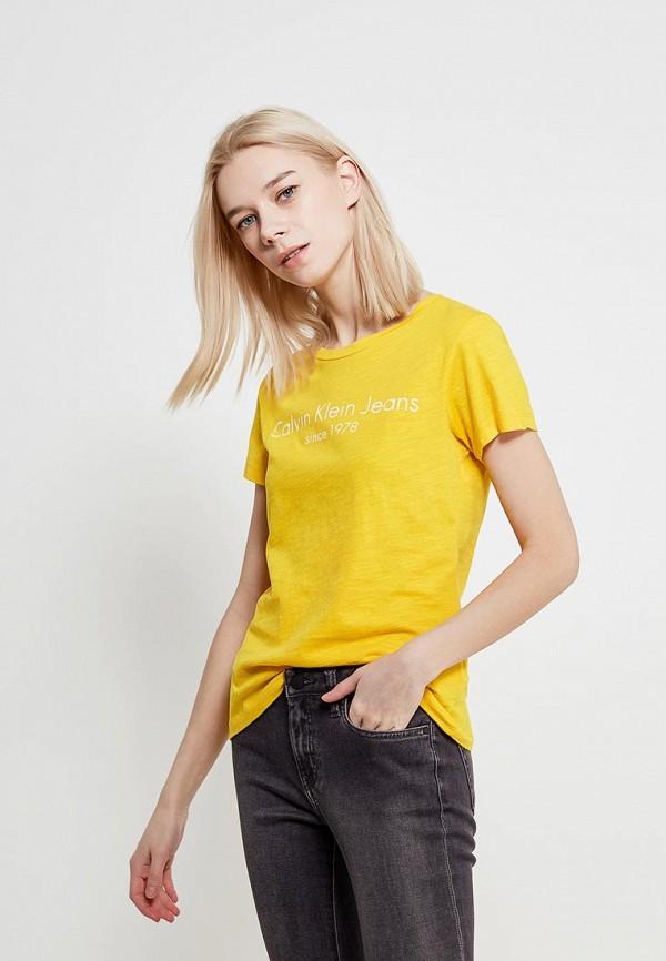 Футболка Calvin Klein Jeans Calvin Klein Jeans CA939EWAQIK8 calvin klein jeans j30j300703