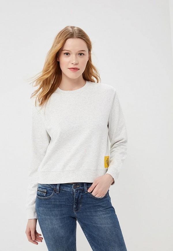 Купить Свитшот Calvin Klein Jeans, CA939EWAUPS3, серый, Весна-лето 2018