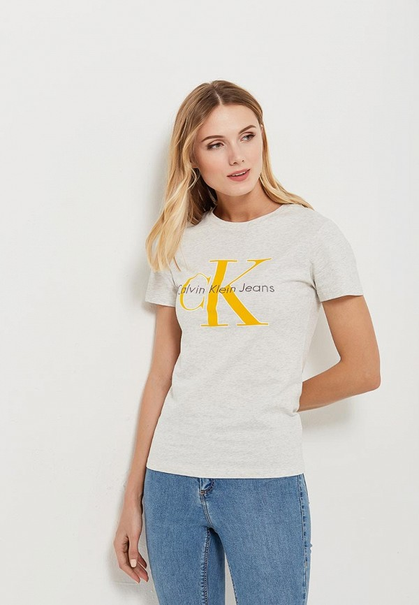Футболка Calvin Klein Jeans Calvin Klein Jeans CA939EWAUPS9 calvin klein jeans j30j3 01230 4760