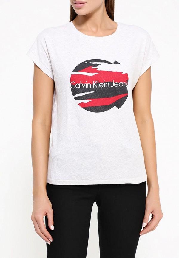 Футболка с надписями Calvin Klein Jeans J20J200735: изображение 3