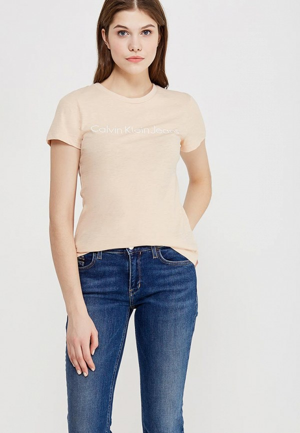 Футболка Calvin Klein Jeans Calvin Klein Jeans CA939EWZJS46 футболка calvin klein jeans calvin klein jeans ca939ewzjs74