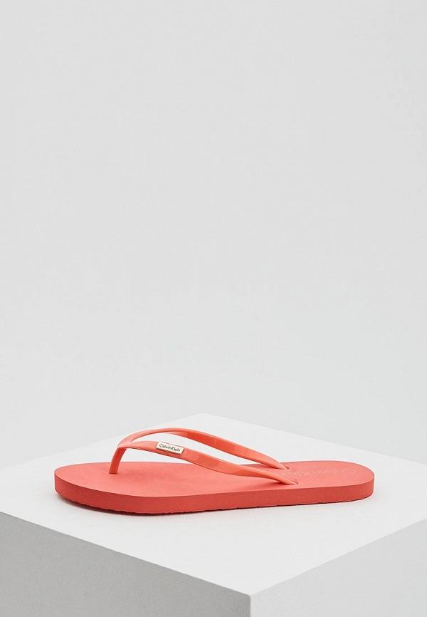 Купить Сланцы Calvin Klein Underwear, CA994AWAQAE6, коралловый, Весна-лето 2018
