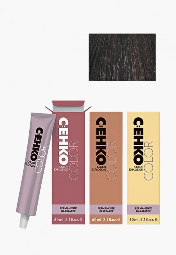 Купить Краска для волос Cehko, Color Explosion 4/00 Коричневый/Mittelbraun 60 мл, CE014LWAZEE0, коричневый, Весна-лето 2018