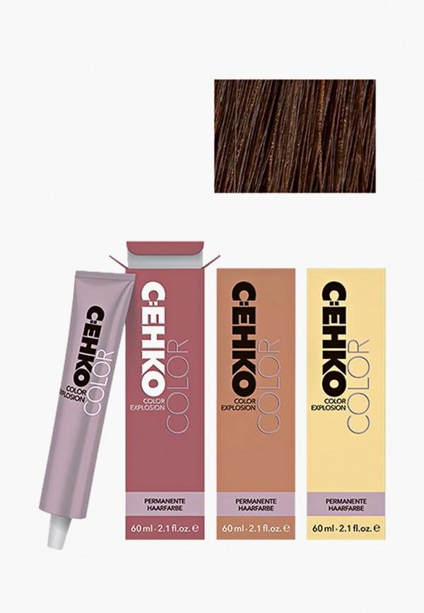 Краска для волос Cehko, Color Explosion, 7/77 Латте Макьято/Latte Macchiato, 60 мл, CE014LWAZEH7, коричневый, Весна-лето 2018  - купить со скидкой