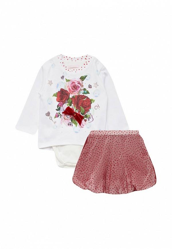 Комплект боди и юбка Choupette Choupette CH991EGYLI20 choupette вязаное с цветами и жемчугом