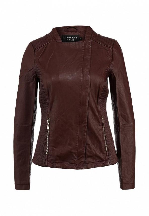 Куртка кожаная Concept Club. Цвет: бордовый