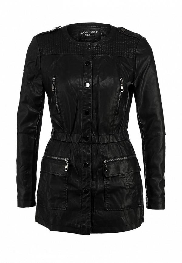 Куртка кожаная Concept Club CO037EWDDX35. Цвет: черный